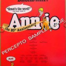 ANNIE ~ Original 20TH ANNIVERSARY  '97 NYC Musical Theatre Poster ~ SALLY STRUTHERS / JOHN SCHUCK