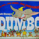 DUMBO - Orig '76 Half-Sheet Movie Poster - Classic WALT DISNEY ANIMATION ART