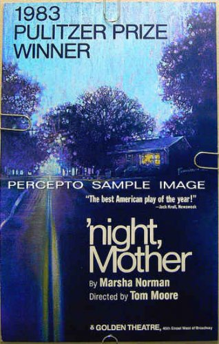 'NIGHT, MOTHER ~ Original 1983 New York Theatre Poster ~ KATHY BATES / MARSHA NORMAN / NIGHT MOTHER