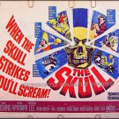 The SKULL ~ Rare-Size Rolled '65 Half-Sheet Movie Poster ~ PETER CUSHING / CHRISTOPHER LEE