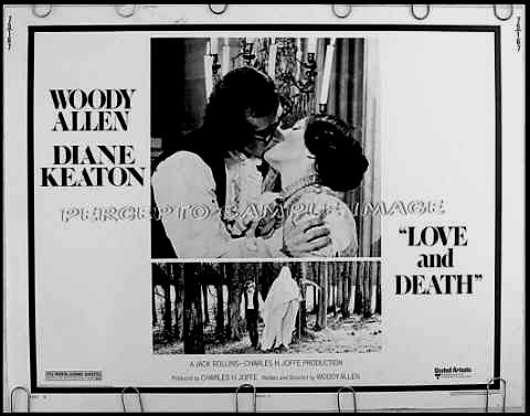LOVE AND DEATH ~ '75 Rare-Size Rolled Half-Sheet Movie Poster ~ WOODY ALLEN / DIANE KEATON