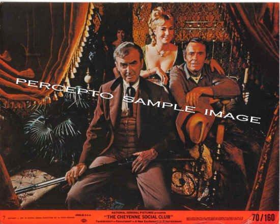 The CHEYENNE SOCIAL CLUB ~ '70 Western Movie Photo ~ James STEWART / Henry FONDA / Shirley JONES
