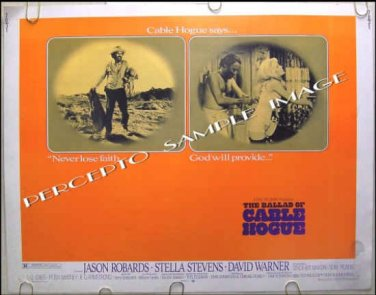 BALLAD OF CABLE HOGUE ~ '70 Half-Sheet Movie Poster ~ JASON ROBARDS / STELLA STEVENS / ROBERT ALTMAN