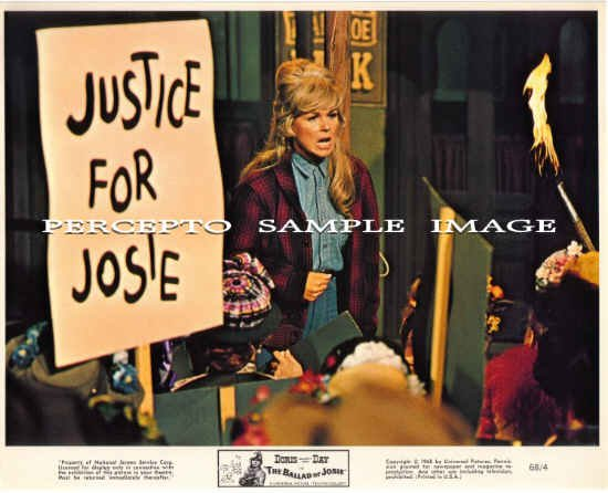 The BALLAD OF JOSIE ~Original '68 Western Movie Photo ~ DORIS DAY Protest Meeting