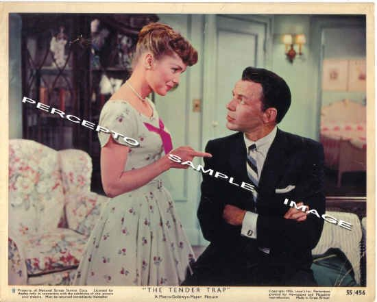 The TENDER TRAP ~ Orig '55 Color Movie Photo #8 ~ DEBBIE REYNOLDS and FRANK SINATRA