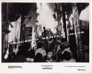 TIDAL WAVE / SUBMERSION OF JAPAN ~ Orig '75 F/X Movie Photo #15 ~ WALL OF FIRE / ROGER CORMAN