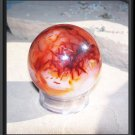 62mm Carnelian Sphere Gemstone Crystal Ball with stand