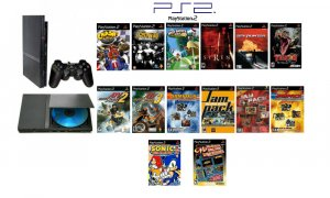 "New Slim Sony Playstation 2 ""Old School Bundle"" - 40 of Your Favorite Games + DVD Movie"