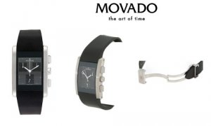 Movado Eliro Men's Chronograph Rubber Strap Watch