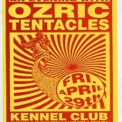 Ozric Tentacles 1994 SF Kennel Club Concert Flyer Handbill Card