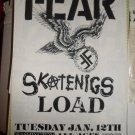 FEAR 1993 Original Miami Beach Concert Flyer Poster