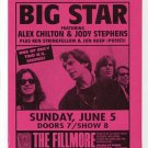 BIG STAR Alex Chilton 1988 The Fillmore SF Concert Handbill Flyer FREE SHIPPING!