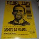 Pearl Jam 2000 Manchester UK Concert Handbill