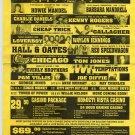 Cheap Trick 1995 Konocti Concert Handbill & Original VIP Pass Stage Used Set List