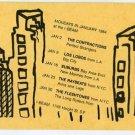 Fleshtones Raybeats Los Lobos Suburbs Contractions 1984 Concert Card