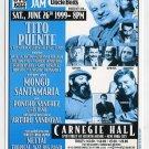 Tito Puente 1999 Carnegie Hall Latin Jazz Jam Concert Handbill FREE SHIPPING!