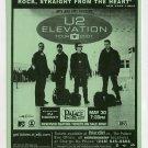 U2 PJ Harvey 2001 Elevation Concert Tour Concert Handbill
