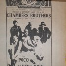 Chambers Brothers Poco Albert King 1969 Newspaper Concert AD LED ZEPPELIN