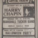 Marshall Tucker Charlie Daniels Harry Chapin 1974 NY Newspaper Concert AD