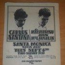 Santana John McLaughlin 1973 Santa Monica Newspaper Concert AD