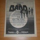 The Band Electic Flag 1974 Nassau Newspaper Concert AD