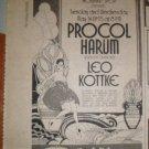 Procol Harum Leo Kottke 1974 Felt Forum Newspaper Concert AD