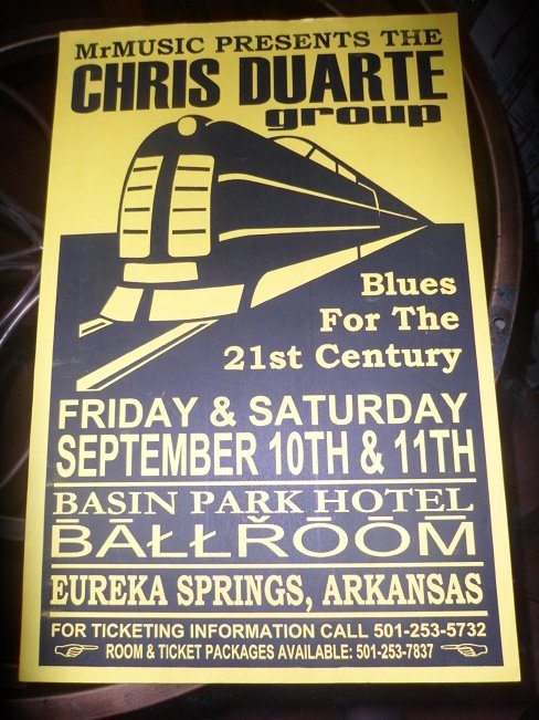 Chris Duarte Group 1999 Arkansas Concert Poster