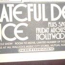 The Grateful Dead 1971 Hollywood Palladium Newspaper Concert AD STEPPENWOLF
