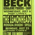 BECK Lemmonheads 1988 Fillmore SF Concert Handbill