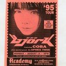 BJORK 1995 Academy NYC Concert Handbill