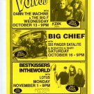 VOIVOD Best Kissers Big Cheif 1993 Library Cafe Concert handbill