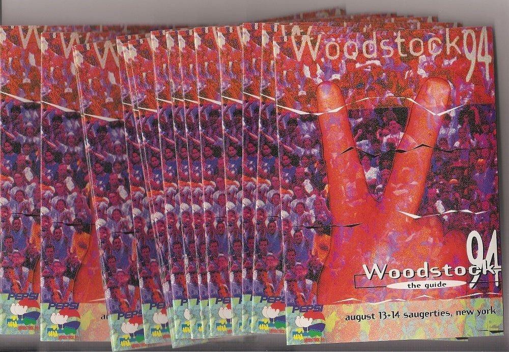 WOODSTOCK 1994 The Guide Official Concert Program Lot 15 COPIES!