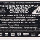 George Clinton P.Funk All-Stars 1996 NYC Central Park Concert Handbill Lot 10 COPIES