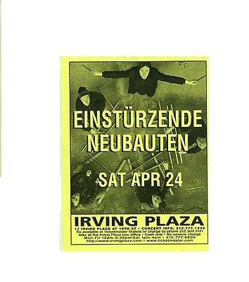 EINSTURZENDE NEUBAUTEN 2004 Irving Plaza NYC Concert Handbill Card