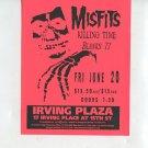 MISFITS 1997 Irving Plaza NYC Concert Handbill