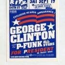George Clinton P-Funk All Stars 1992 Ritz NYC Concert Handbill Card