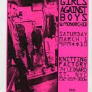 Girls Against Boys 1997 Knitting Factory NYC Concert Handbill Flyer