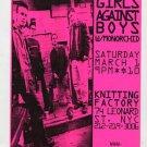 Girls Against Boys 1997 Knitting Factory NYC Concert Handbill Flyer