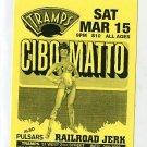 CIBO MATTO 1997 Tramps NYC Concert Handbill