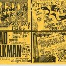 Redd Kross Butthole Surfers Circle Jerks 1989 Goldenvoice Concert Handbill