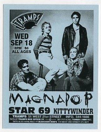 Magnapop 1996 Tramps NYC Concert Handbill Card