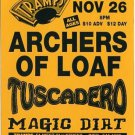 Archers Of Loaf Tuscadero Magic Dirt 1996 Tramps NYC Concert Handbill Card