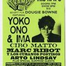 YOKO ONO 1997 Tramps NYC Concert Handbill Card