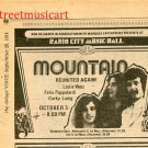 MOUNTAIN 1974 Radio City Music Hall Newspaper Concert AD