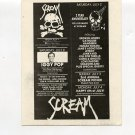 IGGY POP Jane's Addiction 1989 Scream Club Concert Handbill Card