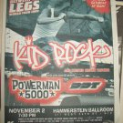 KID ROCK 1999 Hammerstein Ballroom NYC Newspaper Concert Poster AD FREE SHIPPING!