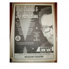 ELVIS COSTELLO & THE ATTRACTIONS 1995 NYC Newspaper Concert Poster AD FREE SHIPPING!