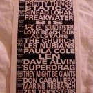 Pretty Things The Church 1999 Bowery Ballroom NYC Concert Handbill