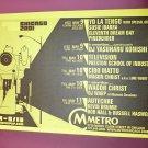 Yo La Tengo Television Suicide 2001 Chicago Concert Handbill