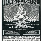 Lollapalooza 1994 Florida Concert Handbill Smashing Pumpkins Green Day